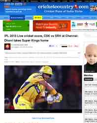 IPL 2013 Live cricket score CSK vs SRH: Cricket Country